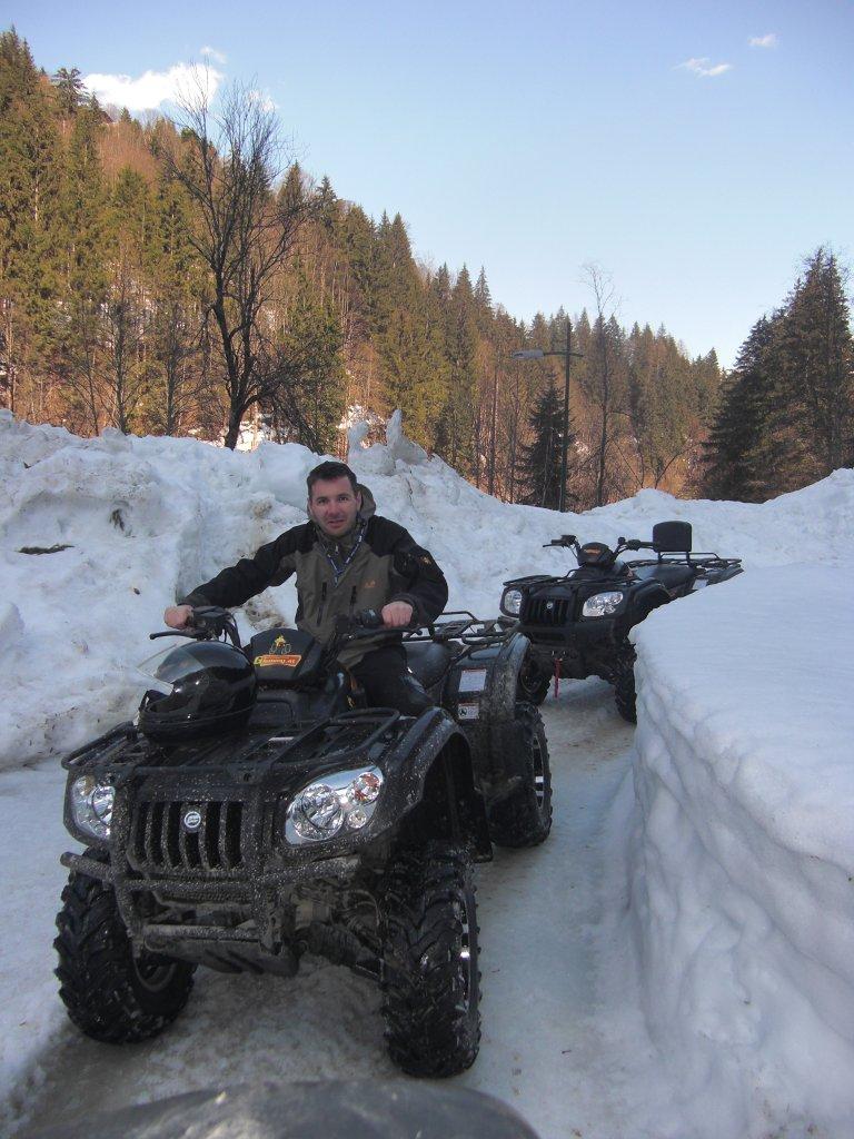 Quad fahren im Winter