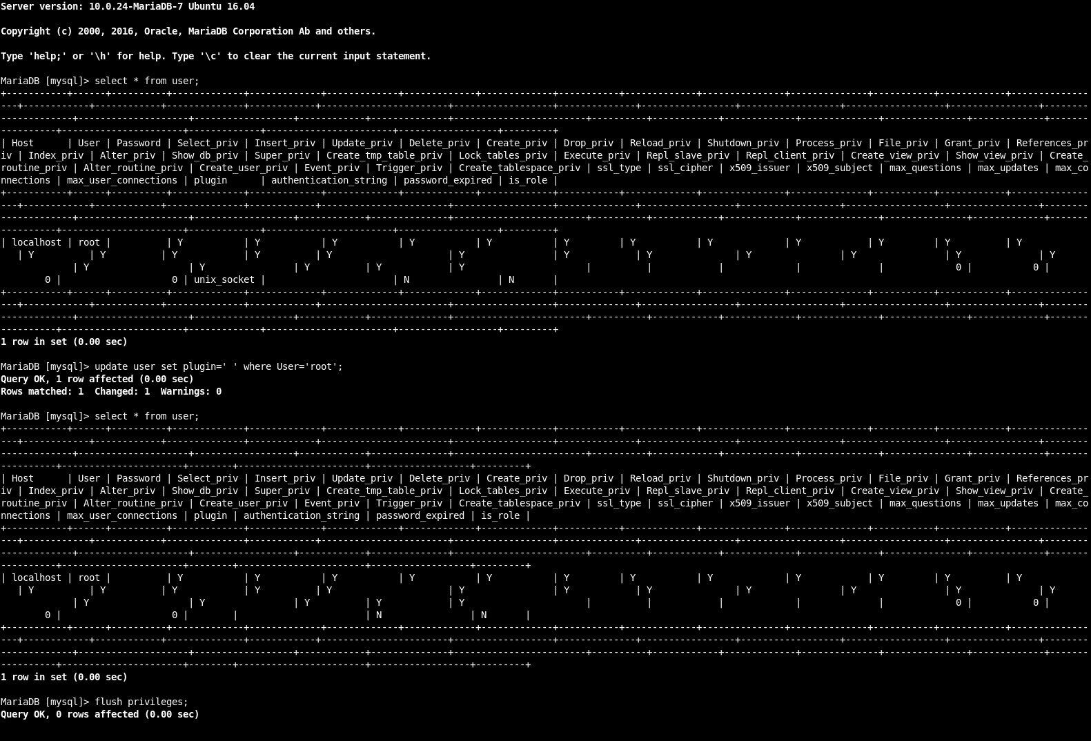 root-login ohne Kennwort auf mysql/mariadb funktioniert mit PHP nicht