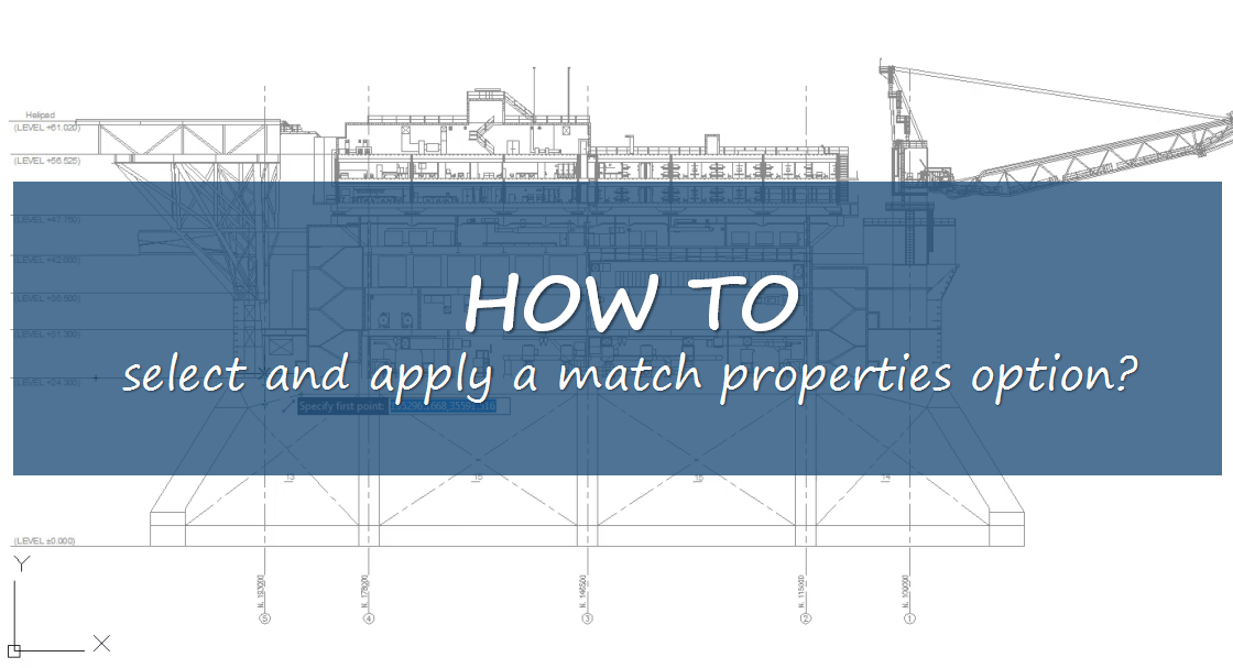 How to select and apply a match properties option
