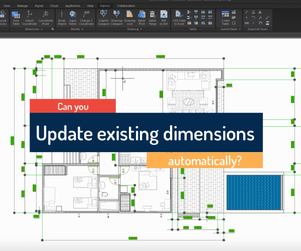 Introduction to GstarCAD Express Tool: Dimension Update