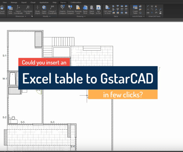 Introduction to GstarCAD Express Tool: AutoXLstable