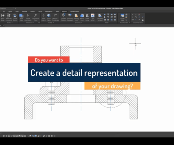 How to use GstarCAD Express Tool: Region Scale