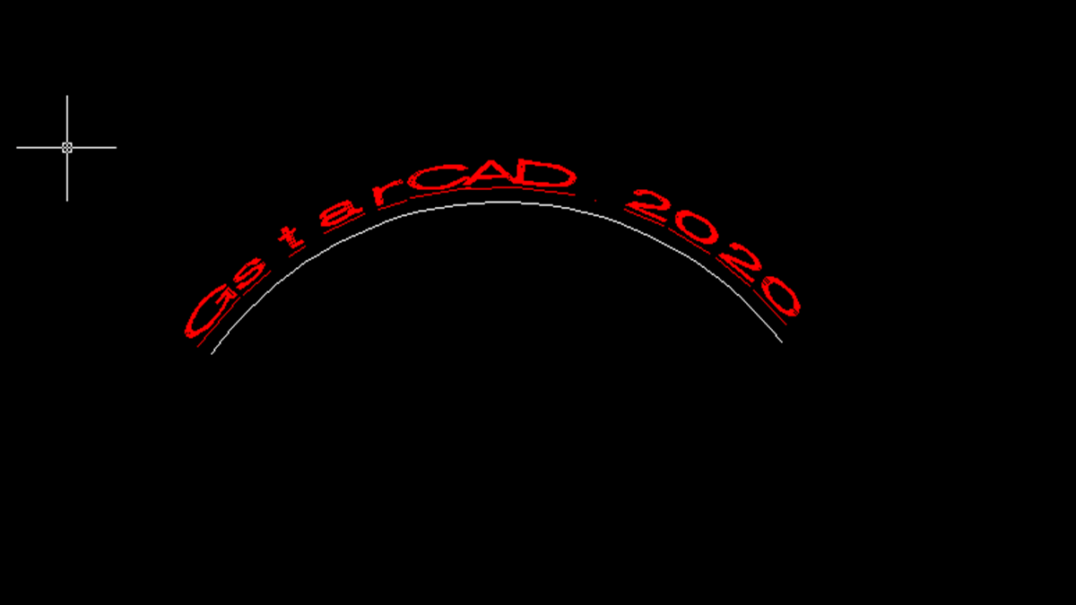 Can we create Arc-Aligned text with GstarCAD?