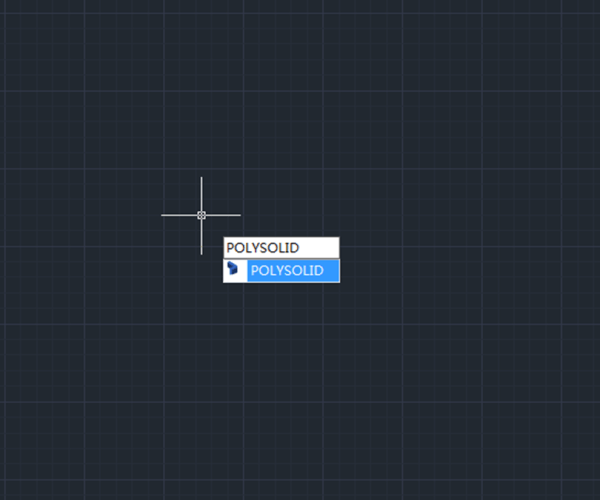 New 3D command in GstarCAD 2021: Polysolid
