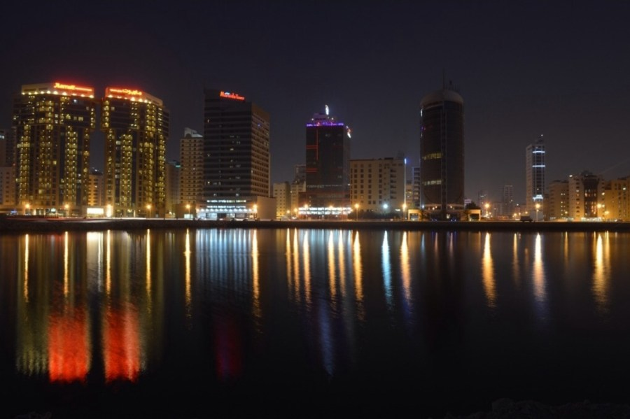 Beautiful Dammam at night