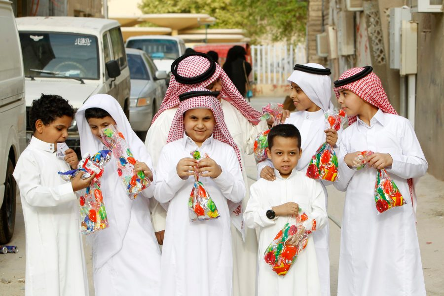 Saudi boys celebrate Eid in Riyadh