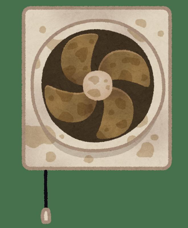 汚れた換気扇