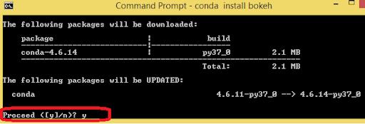 conda install numpy scipy pandas keras tensorflow scikit Command Prompt
