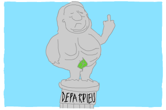 This image has an empty alt attribute; its file name is depardieu-small_finger.png