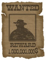 Wanted Poster with 1 million dollar reward