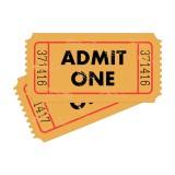"""""""Admit One"""" vintage tickets"""