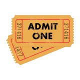 """Admit One"" vintage tickets"