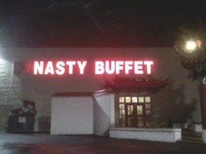 Dynasty Buffet signage Fail with burned out lights
