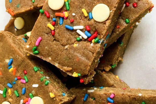 cake batter protein bars