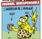 "Couverture de Charlie 1058, ""Journal irresponsable"""
