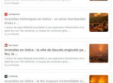"""Capture de Google News """"Petzetel"""""""