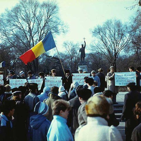 Protesters' rally in Kishinev, November 7–10, 1989