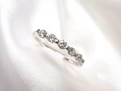 小さなダイヤの一文字リングとピンキーリングへのリフォーム【神戸 元町】