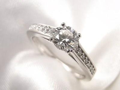 0.4ctダイヤモンドをスタイリッシュなリングへリフォーム【神戸 元町】