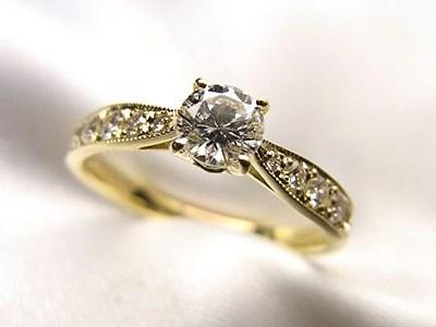 プロポーズに♥︎お母様のダイヤモンドリングをリフォーム【神戸 元町】