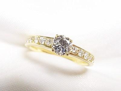 ご家族のダイヤをゴールドのご婚約指輪にリフォーム【神戸 元町】