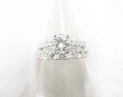 2つの古いダイヤモンドリングをそれぞれキラキラにリフォーム【神戸 元町】