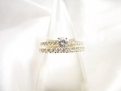 お母様のダイヤモンドをエンゲージリングにリフォーム&マリッジリングのご注文【神戸 元町】