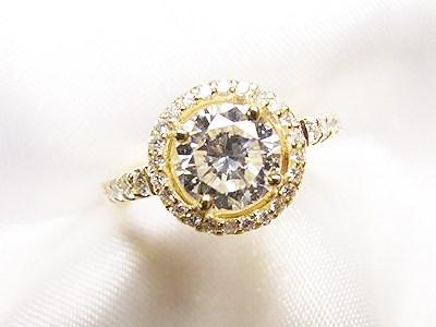 おばあさまの1ctUPダイヤモンドをカジュアルゴージャスなエンゲージリングへリフォーム【神戸 元町】