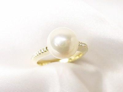 アコヤ真珠の指輪をカジュアル使いにリフォーム【神戸 元町】