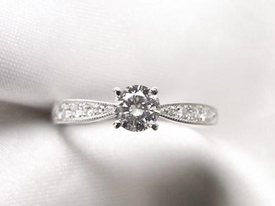 立爪ご婚約指輪をアンティーク風リングにリフォーム【神戸 元町】