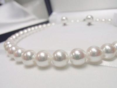 花嫁になる娘へ母からの贈り物♡アコヤ真珠ネックレスセット【神戸 元町】