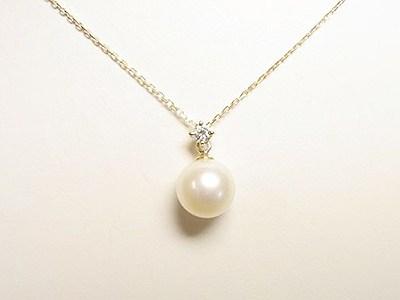 真珠&ダイヤのペンダントリフォーム&ご結婚20周年記念エタニティリングのご注文【神戸 元町】