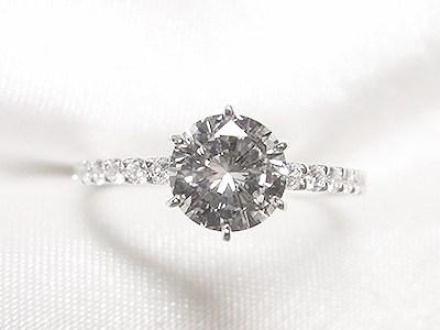 お母様の立爪ダイヤモンドを華奢なエタニティ風リングへリフォーム【神戸 元町】