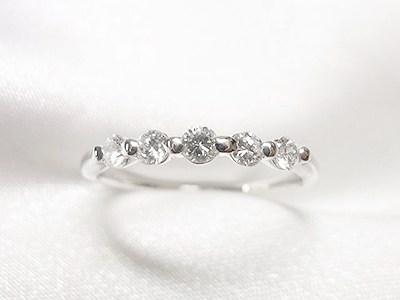 0.4ct立爪ダイヤと一文字リングのリフォーム【神戸 元町】