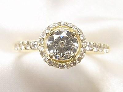 0.5ctUPダイヤモンドリングをK18メレダイヤ取巻きリングへリフォーム【神戸 元町】