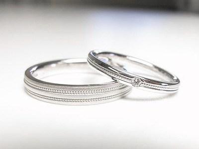 ミル打ちがお揃いのご結婚指輪ご注文【神戸 元町】