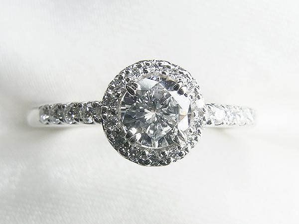 0.3ct立爪ダイヤをメレダイヤ取巻きリングへリフォーム【神戸 元町】