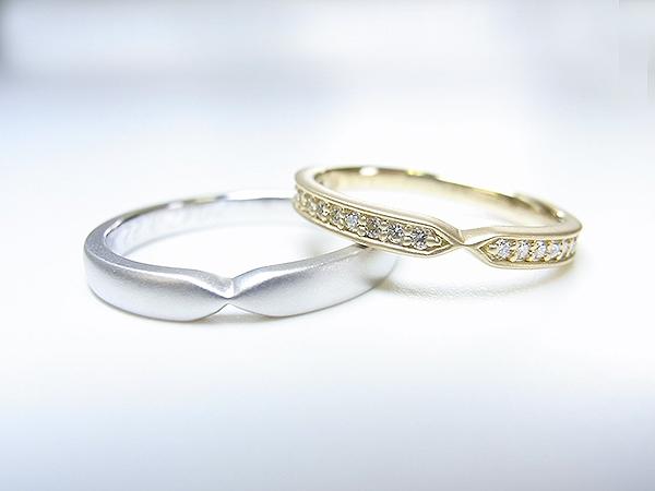 色違いペアのご結婚指輪ご注文【神戸 元町】