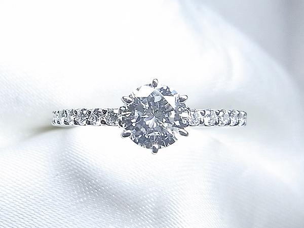 立爪ご婚約指輪をエタニティ風リングへリフォーム