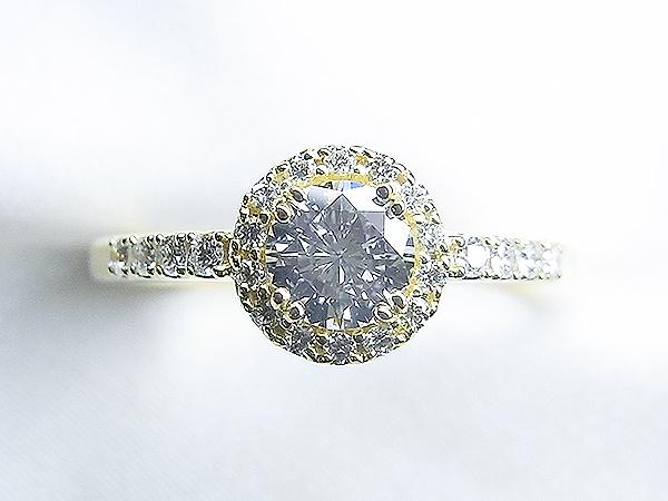 立爪ダイヤをK18メレダイヤ 取り巻きリングへリフォーム【神戸 元町】