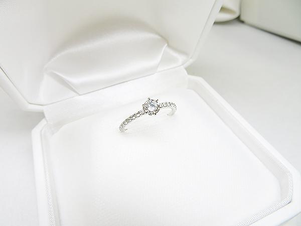 0.3ct立爪ダイヤリングをエタニティ風エンゲージリングへリフォーム【神戸 元町】