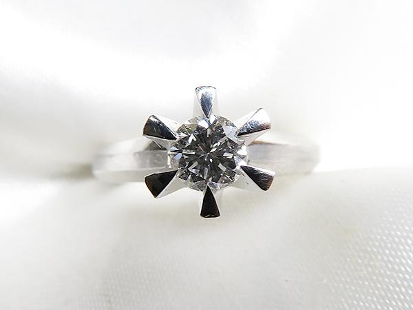 M.Kさまの古い立爪ダイヤリング