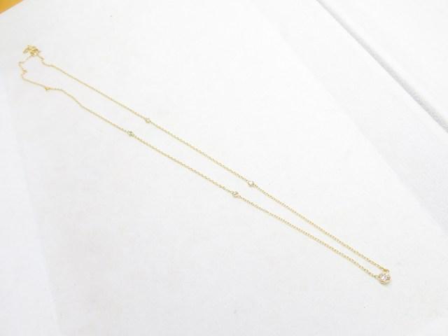 K18製メレダイヤ取巻き&ステーションネックレスへのリフォーム