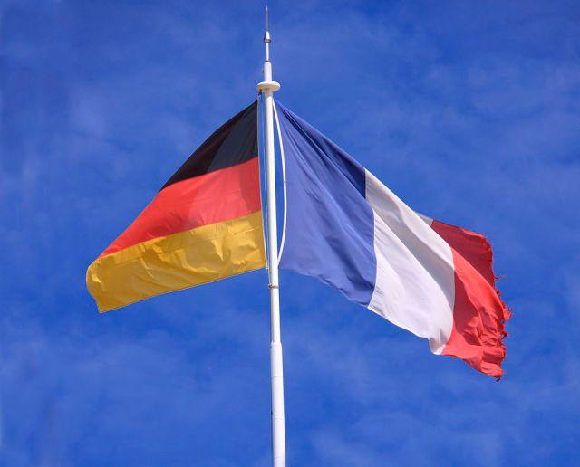 Photo des drapeaux français et allemand