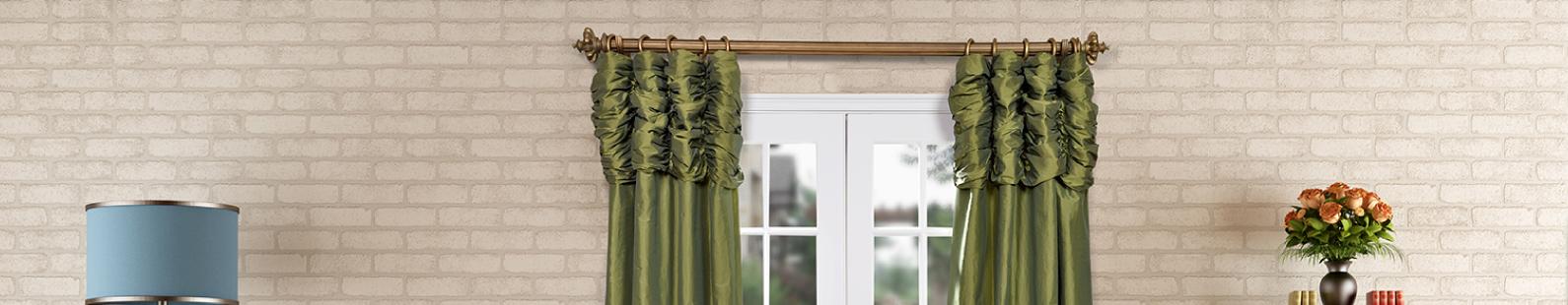 Ruched-Faux-Silk-Taffeta-Curtains