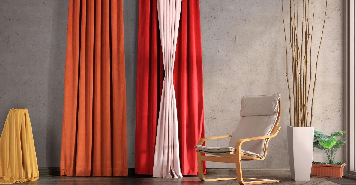 velvet drapes in fall colors