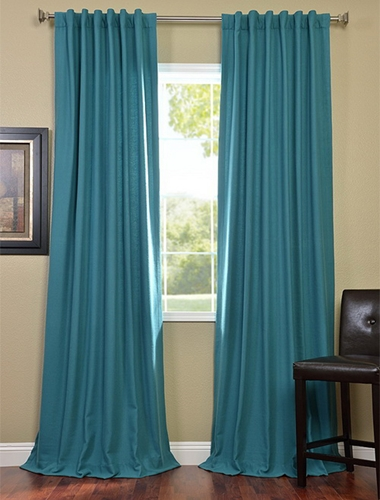 Add color to your living room with these drapes