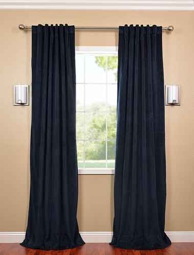 Stay cool this summer with velvet blackout drapes