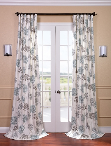 Use cotton drapes to bring color and light into your home