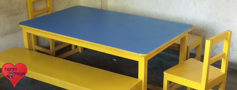 Schulmöbel für Compact English School